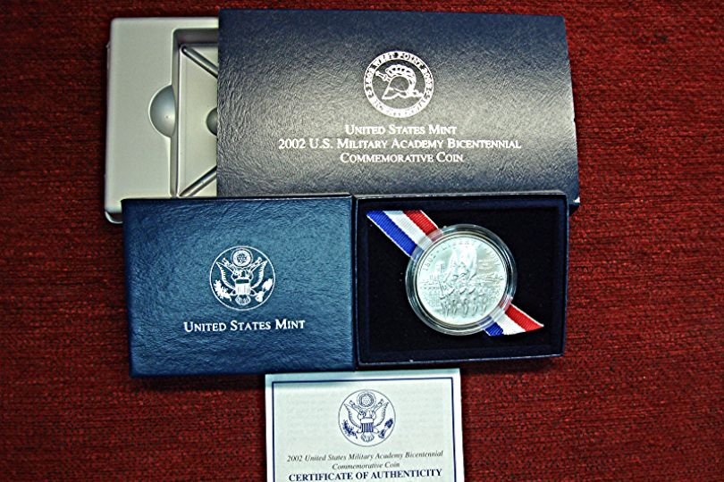 Military Academy Bicentennial Commemorative Proof Silver Dollar Coin 2002 U.S