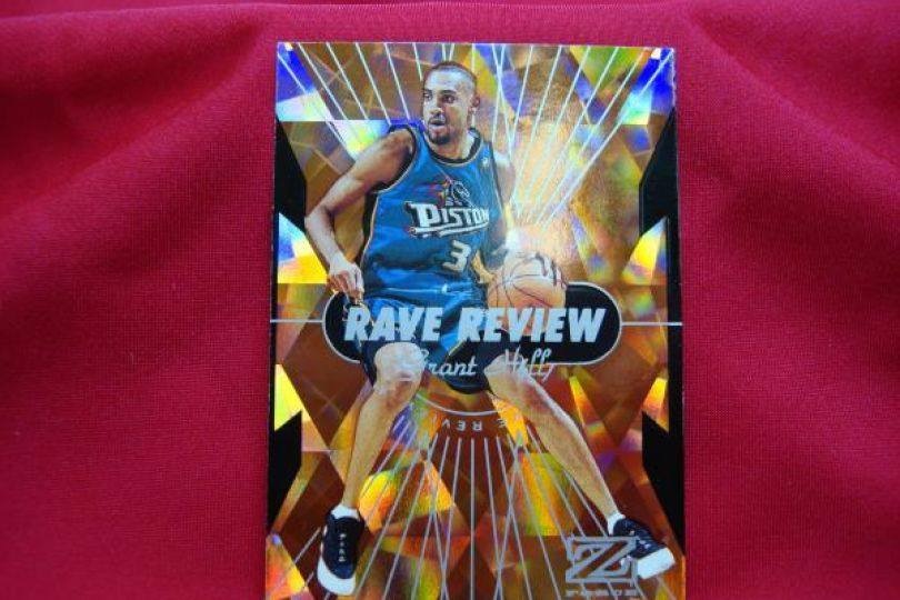 97 98 Skybox Z Force Rave Review Insert Grant Hill Detroit