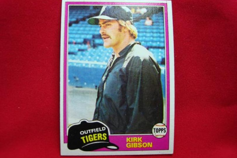 1981 Topps Baseball Kirk Gibson Detroit Tigers Rookie Rc 315 Very