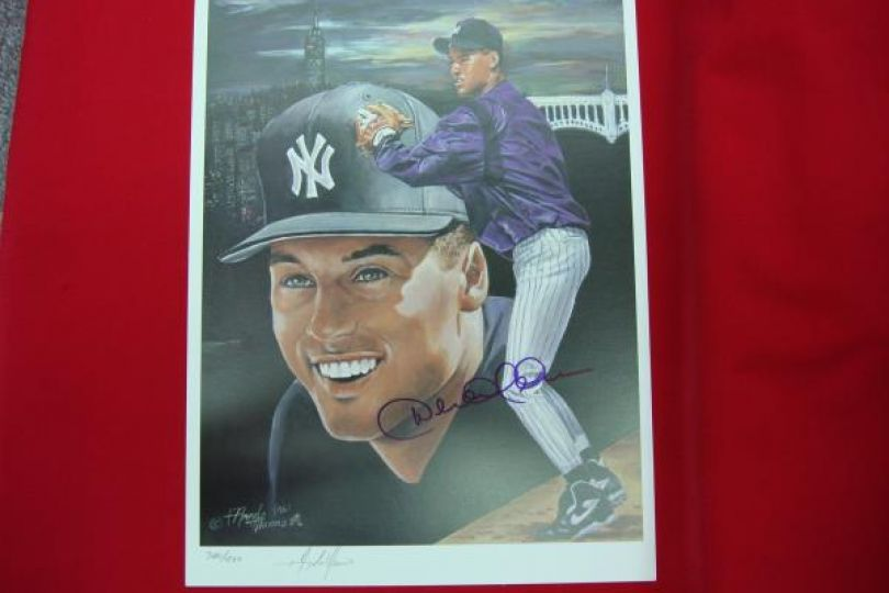 Derek Jeter Autographed Limited Edition Rookie Year Litho By
