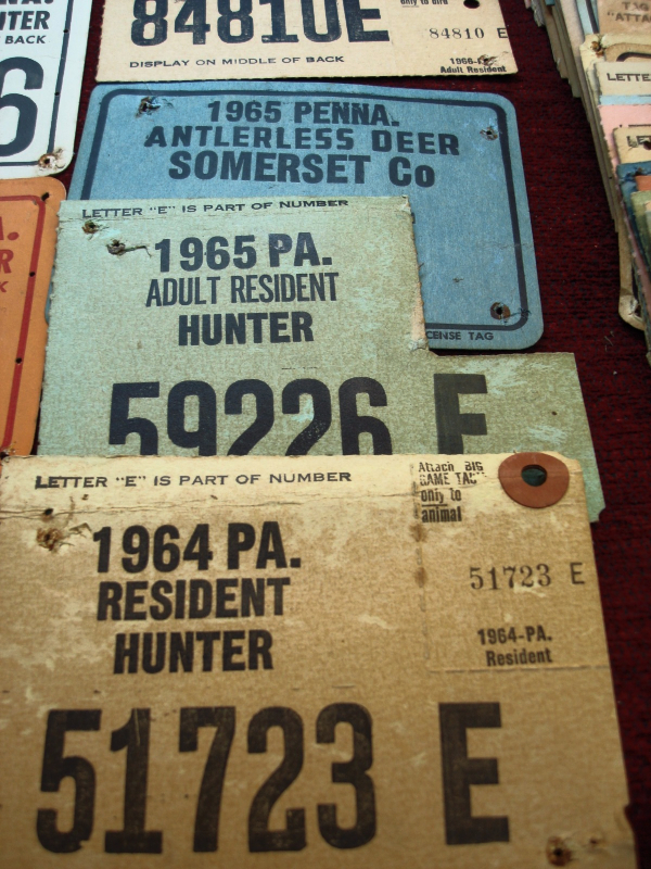 Grp of 66 vintage pennsylvania hunting licenses 1954 for Pennsylvania fishing license