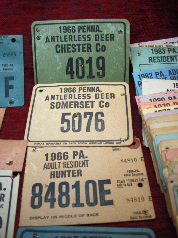 Grp of 66 vintage pennsylvania hunting licenses 1954 for Pa fishing licenses