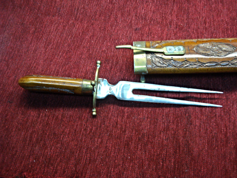 Vintage Chef S Carving Set Crafted In India Carving