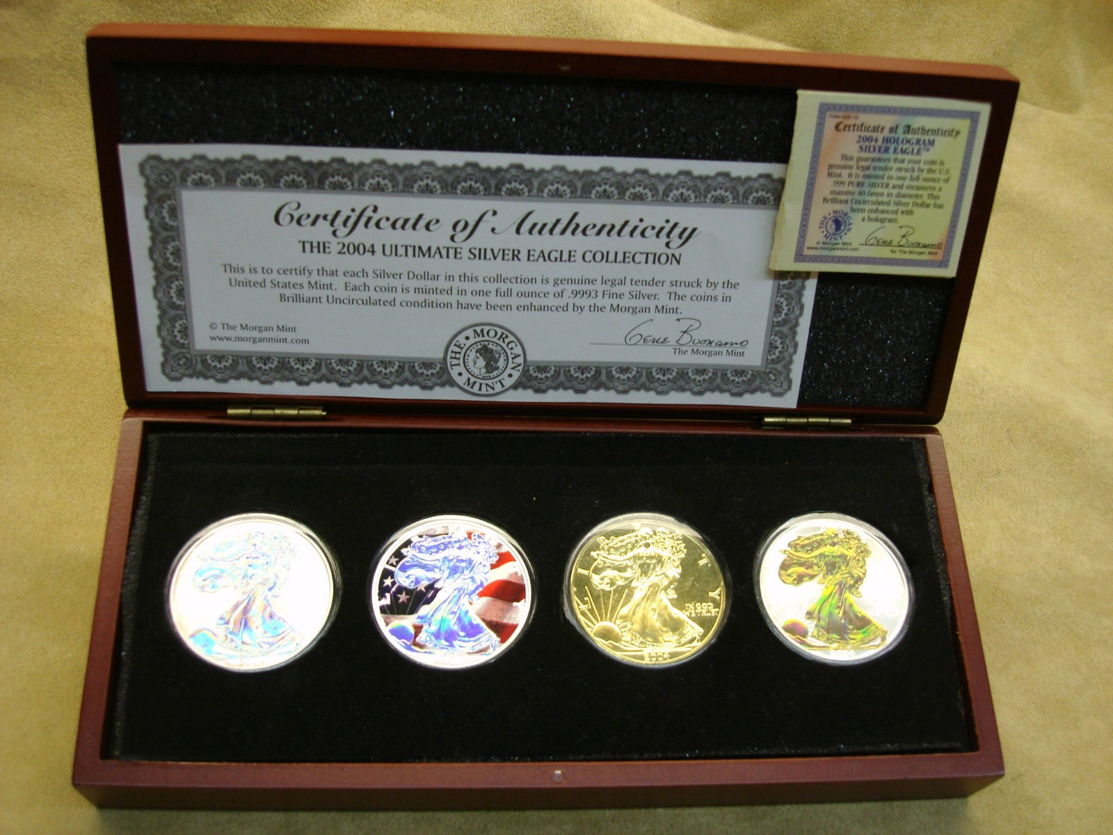2004 Ultimate Silver Eagle Collection 4 Coin Set W
